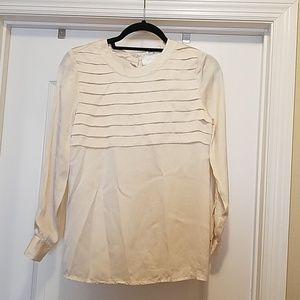 Chanel 100% champagne silk blouse